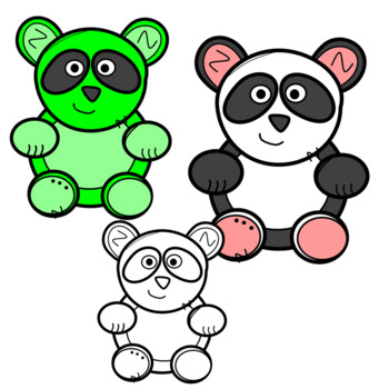 350x350 Cute And Colorful Panda Bear Clip Art By Designed By Danielle Tpt