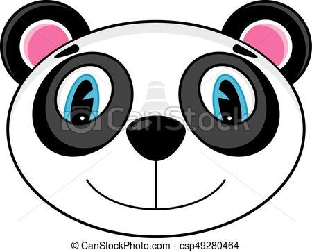 450x363 Cute Panda Bear Head. Adorably Cute Cartoon Panda Bear Head