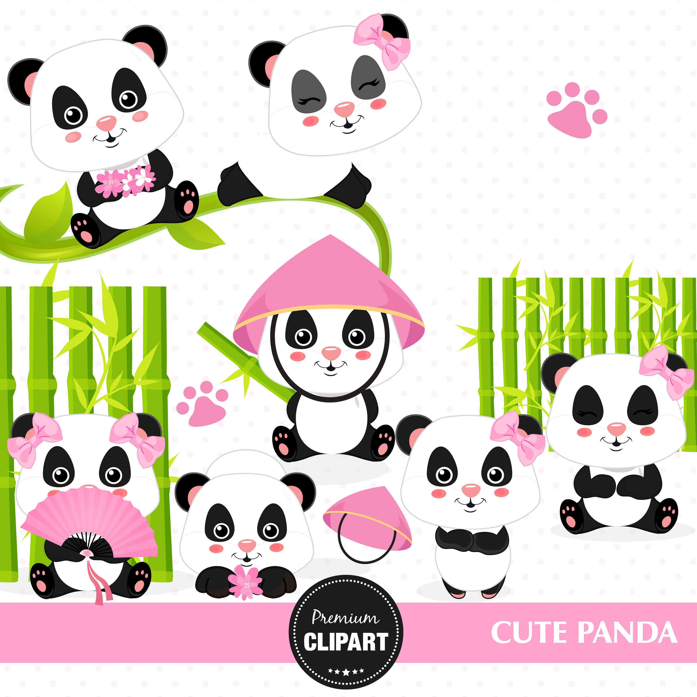 3000x3000 Panda Clipart, Panda Bear Clipart, Panda Digital Image, Panda Baby