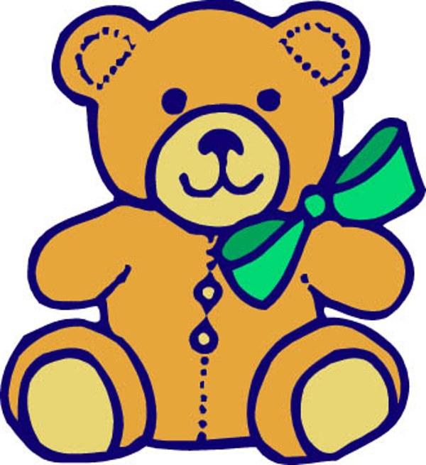 600x655 Teddy Bear Clipart Simple