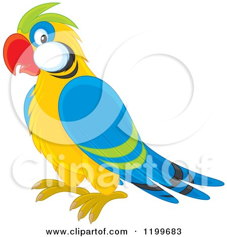 450x470 Clipart Of A Cute Outlined Baby Parrot