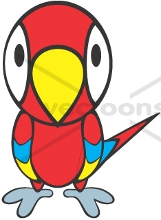 234x320 Cute Parrot For Babies