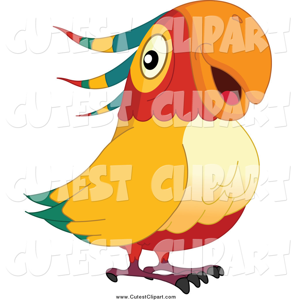 1024x1044 Cute Parrot Clipart. Cat Is Playing Royalty Free Stock Images