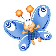 236x236 Baby Butterfly Cartoon Cliprt Pictures.all Butterflyre Om