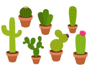 340x270 Succulent Clipart Cute Cactus Clipart Cacti Clip Art Cute