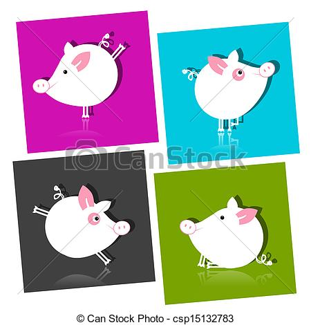 450x470 Cute Piggy For Your Design Vector