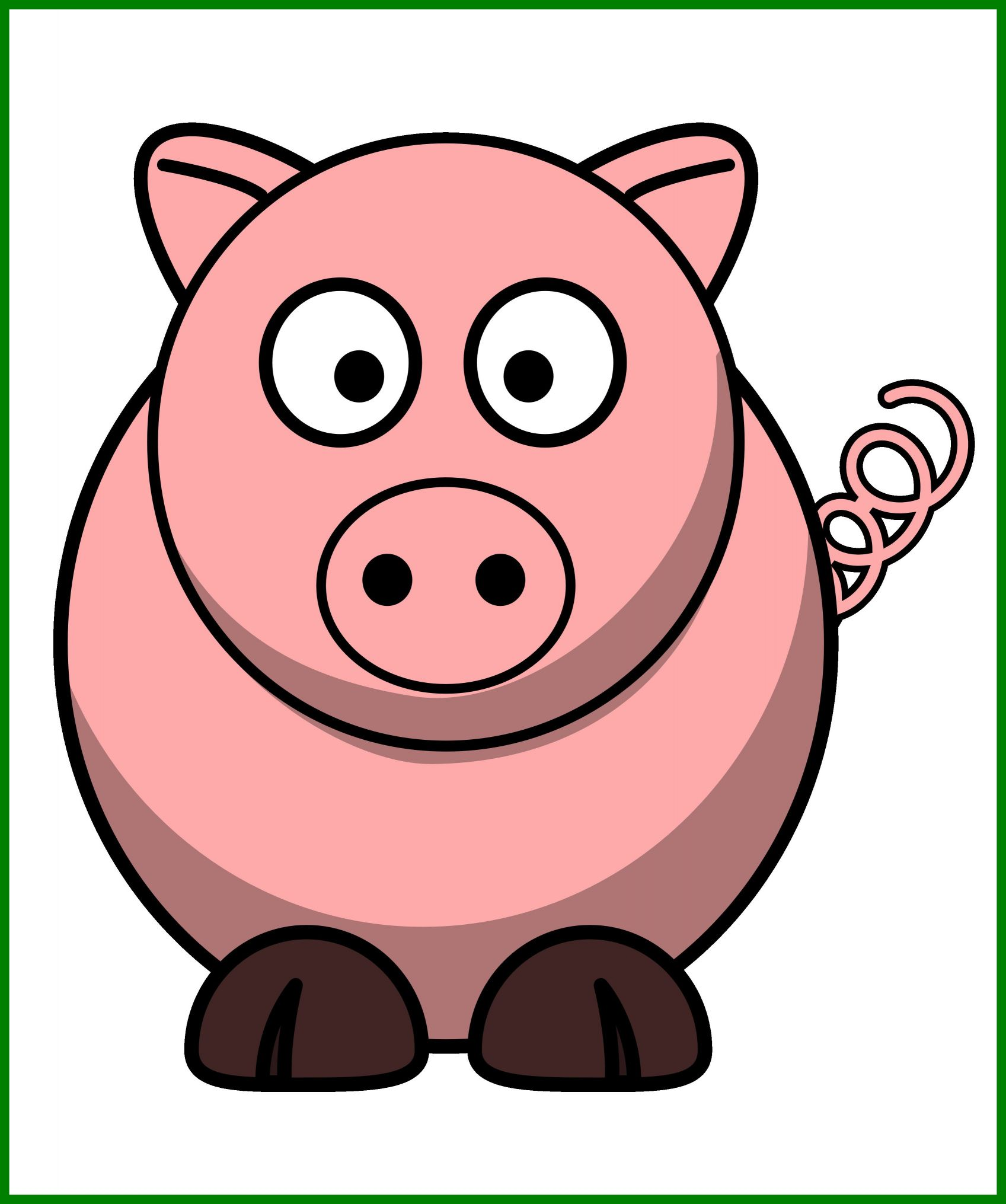 1697x2031 Fascinating Bacon Clipart Piggy Image For Pig Clip Art Coloring