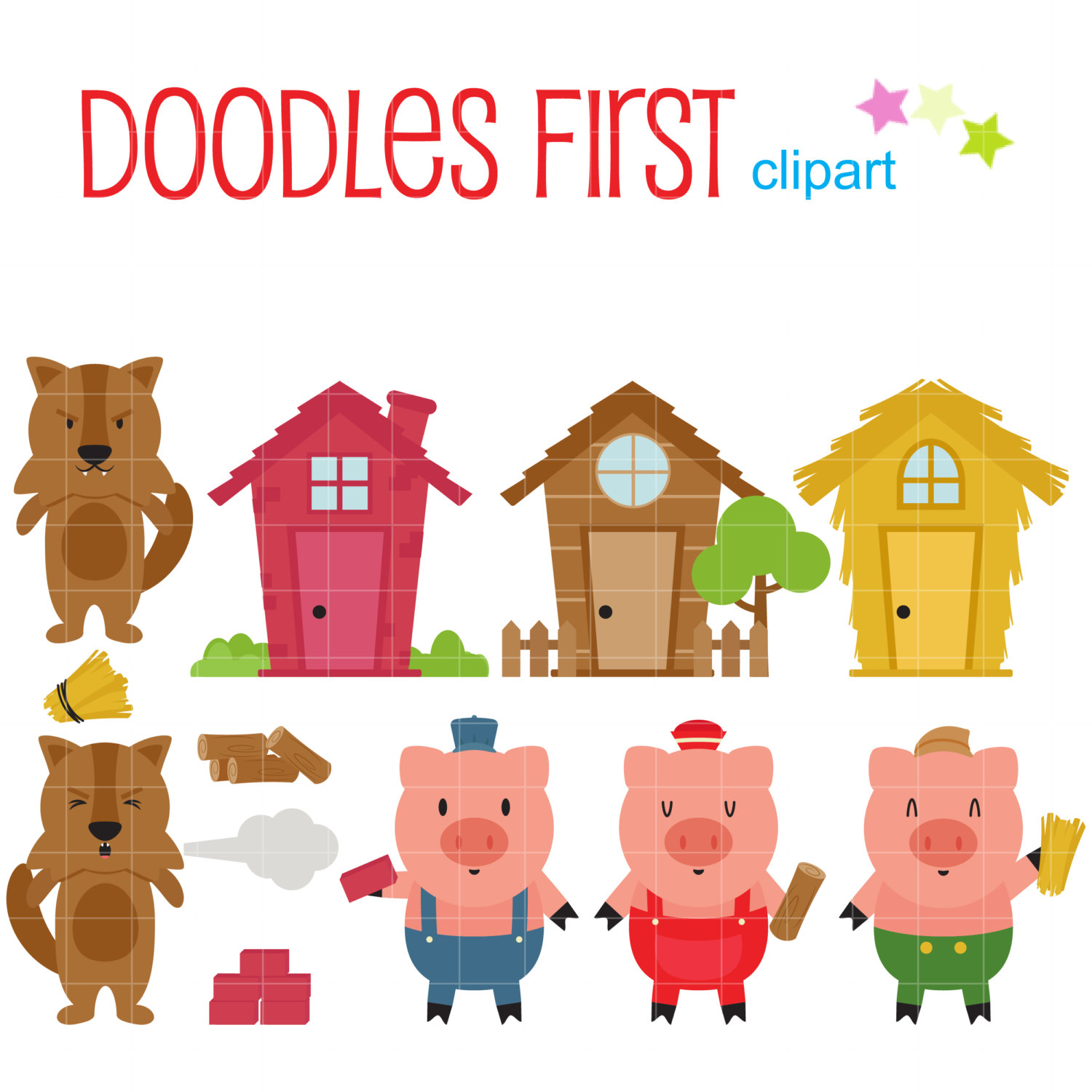 1500x1500 Collection Of Three Little Pig Clipart High Quality, Free