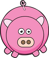 166x195 Free Pig Clipart
