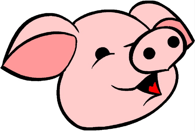 636x429 Pig Face Clipart