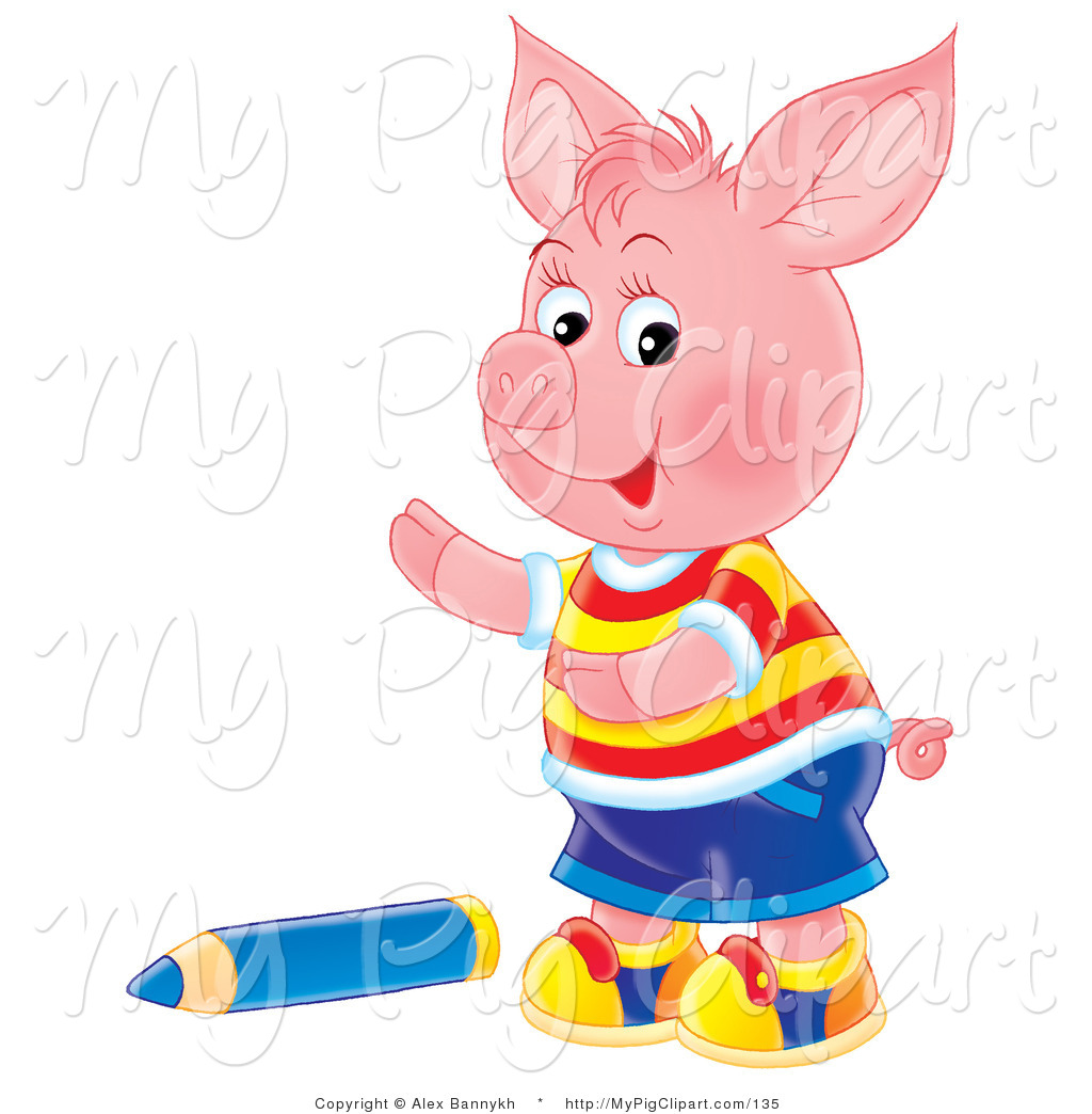 1024x1044 Swine Clipart Of Cute Pink Piglet Boy In Clothes, Standing By