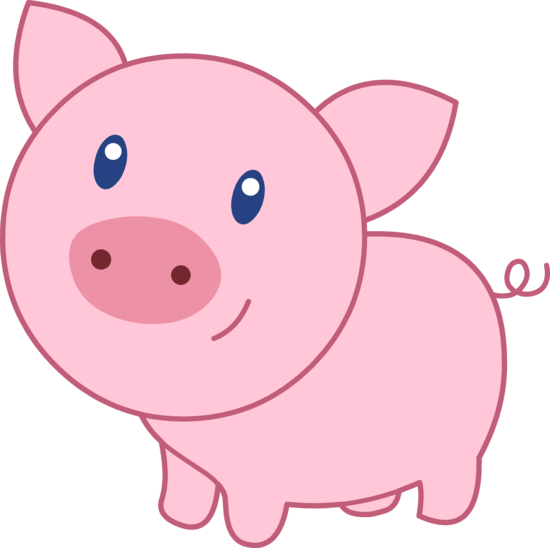 550x548 Happy Pink Pig 1820 Clipart