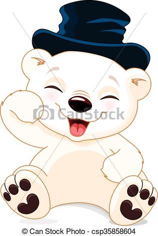 316x470 Happy Polar Bear Illustration Of Cute Polar Bear Is Laughing.