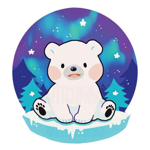 500x500 Christmas Polar Bear Clip Art. Christmas Polar Bear Clip Art