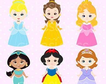340x270 Cute Princess Digital Clipart, Princess Clip Art, Cute Princess