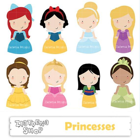 570x570 Princess Digital Clipart Cute Princess Clip Art Fairytale