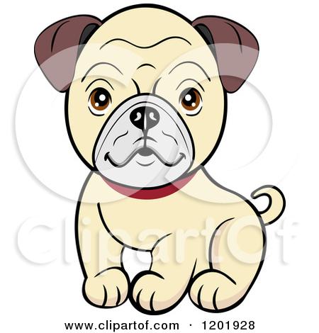 450x470 Pug Cartoon Clipart