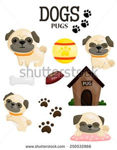 236x302 Pugs Puppies Clipart