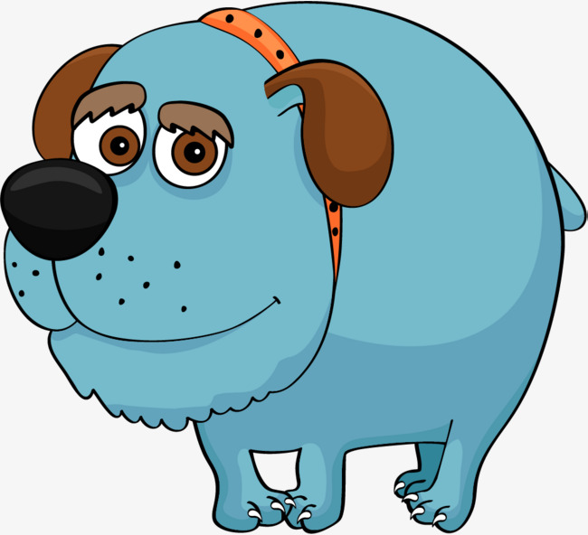 650x592 Blue Cute Pugs, Cartoon Dog, Puppy, Collar Png Image And Clipart