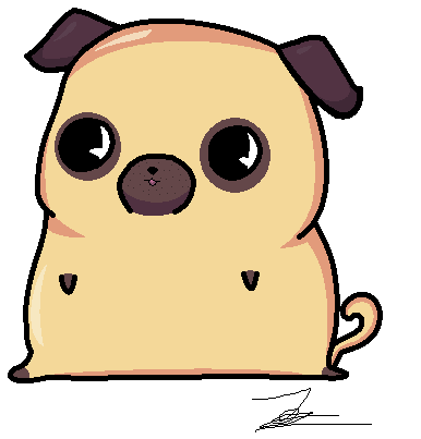386x403 Chibi Pug By Zsofipony