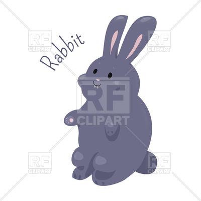 400x400 Cute Rabbit Royalty Free Vector Clip Art Image