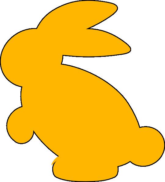 540x596 Yellow Bunny Silhouette Clip Art