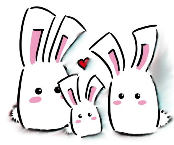 589x491 Bunny Graphic Desktop Backgrounds