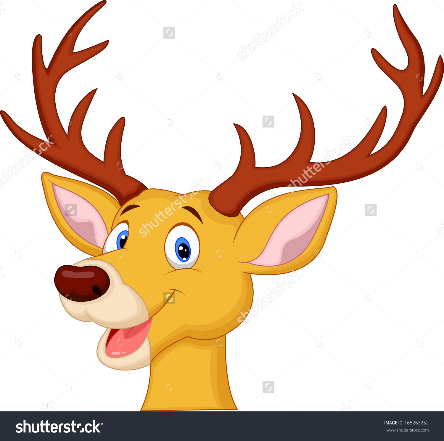 reindeer head clipart at getdrawings com free for personal use rh getdrawings com cute santa and reindeer clipart