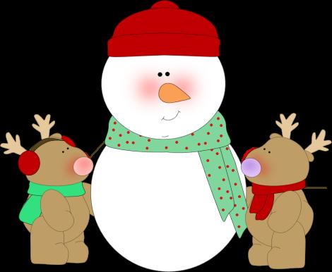 470x386 Snowman And Reindeer Clip Art Clipart Panda