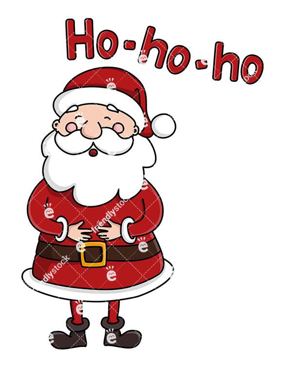 585x755 Cute Santa Claus Laughing Ho Ho Ho Vector Clipart