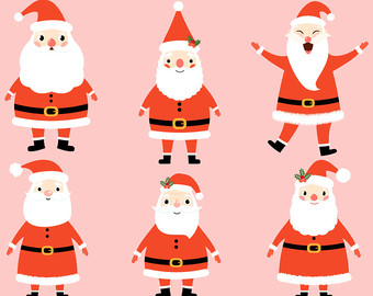 340x270 Kawaii Christmas Clipart Images, Cute Christmas Clip Art Set