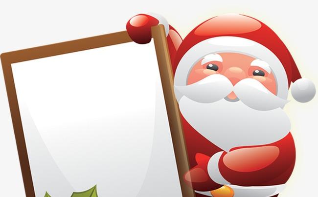 650x404 Signs Cute Cartoon Santa Claus Creative, Sign, Santa Claus
