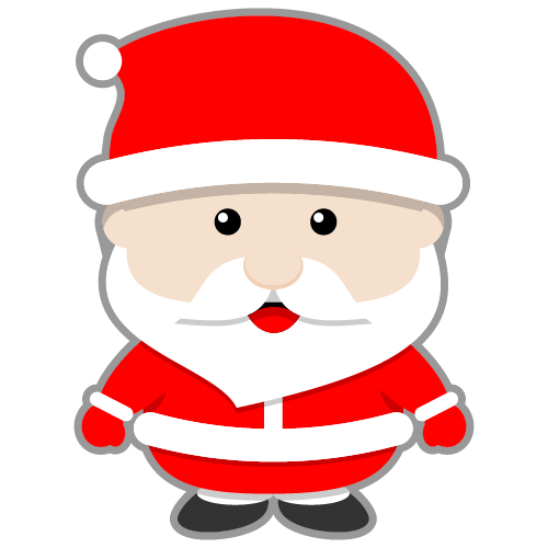 500x500 This Cute Santa Claus Clip Art Done In Kawaii Style Can Be Used