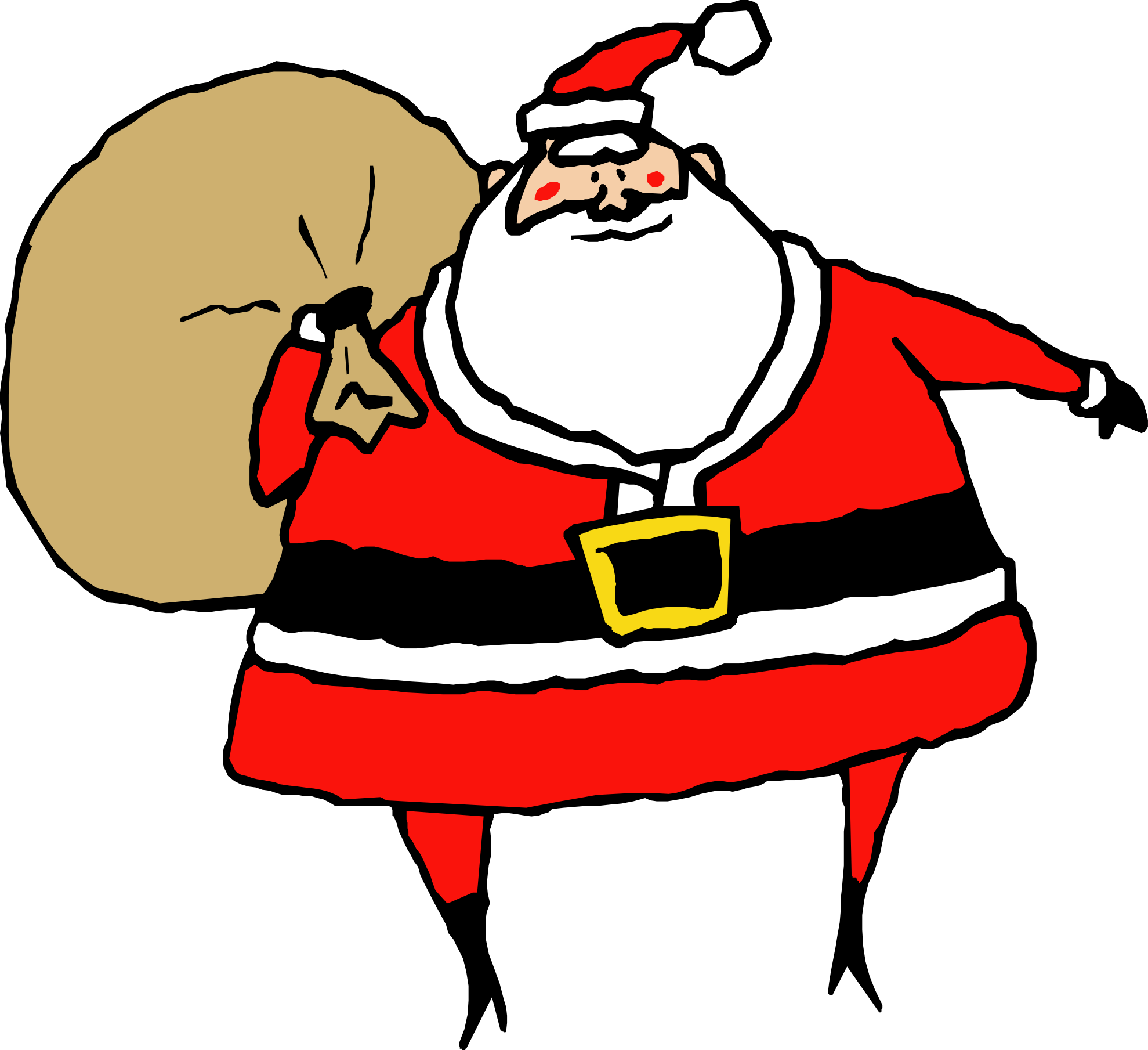 1979x1809 Collection Of Christmas Santa Clipart High Quality, Free