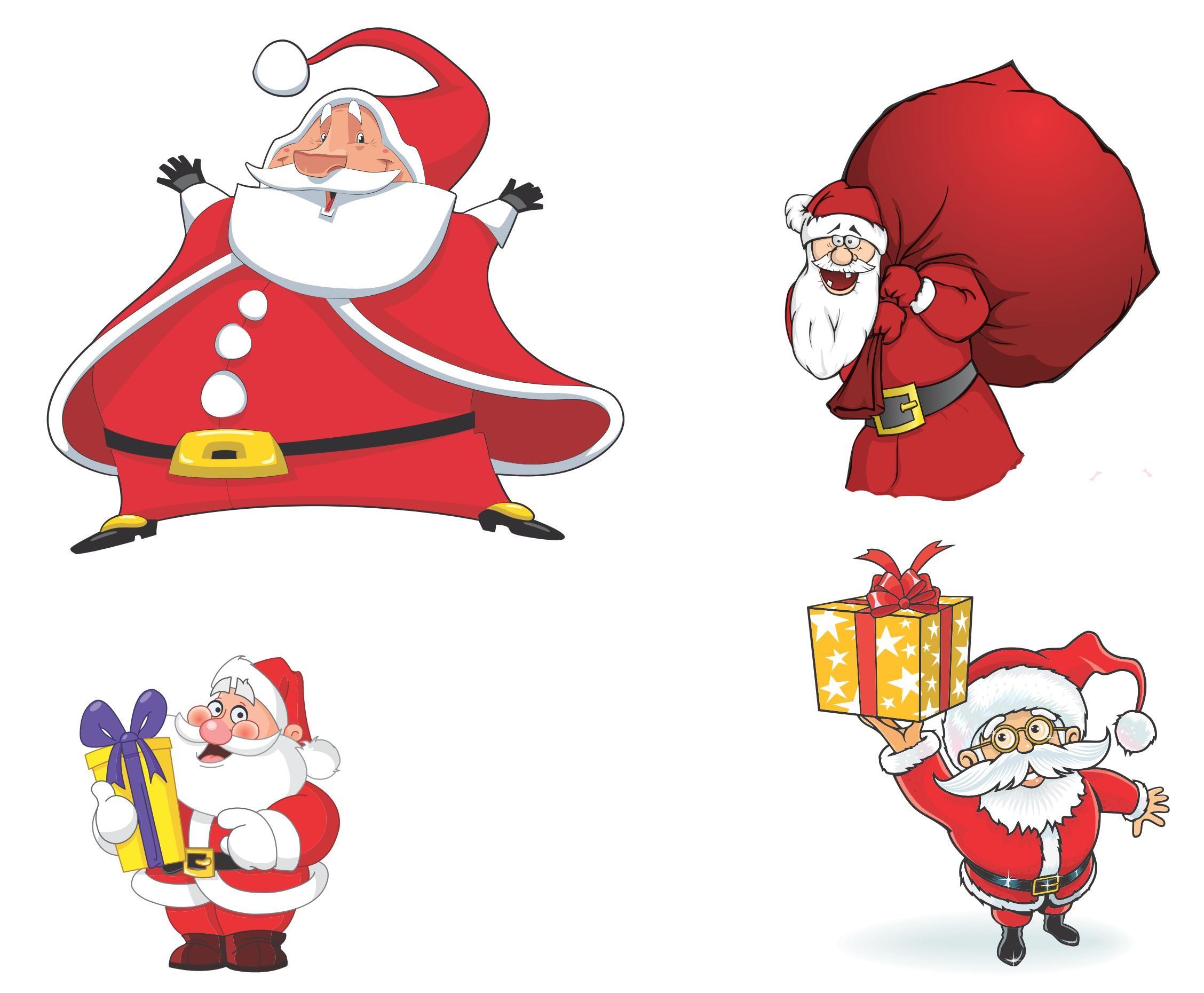 2256x1860 Cartoon Santa Claus Vector 01 [Eps File] Vector Eps Free Download