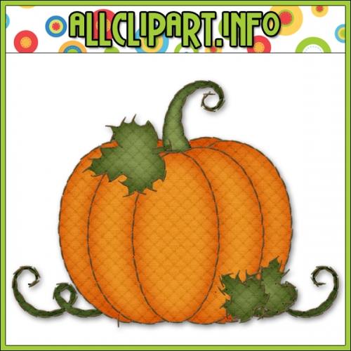 500x500 Cute Pumpkins Scarecrows Clipart