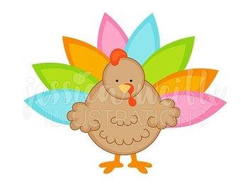 340x270 On Sale Tropical Turkeys Cute Digital Clipart, Commercial Use Ok