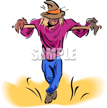 347x350 Animated Scarecrow Clipart