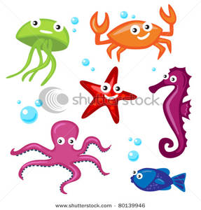 287x300 Cute Sea Creatures And Bubbles