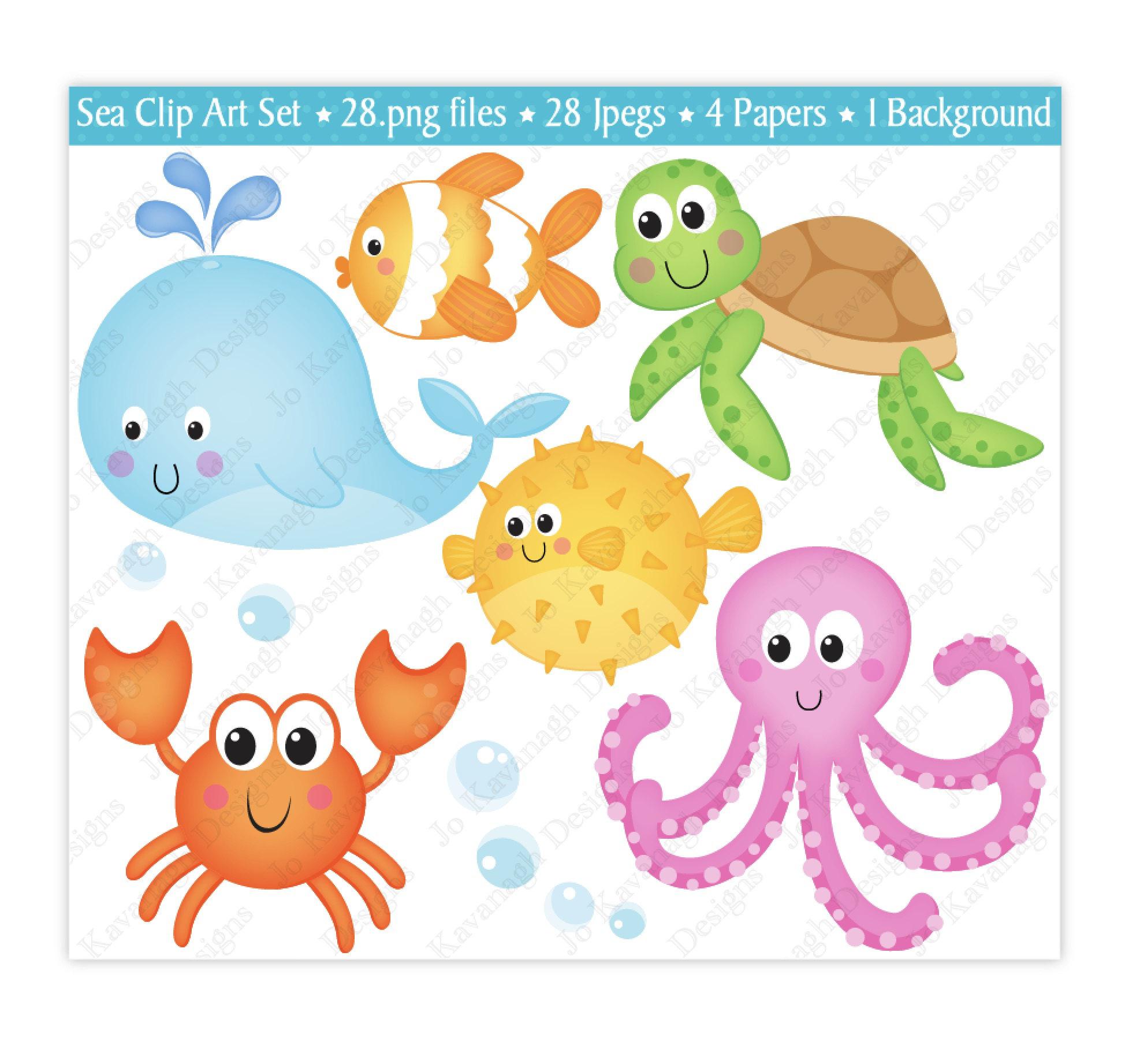 1948x1842 Sea Animals Clip Art,under The Sea Clipart,under The Sea Digital