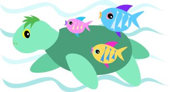 350x189 Cute School Of Fish Swimming Free Clip Art