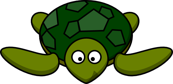 600x291 Green Turtle Cliparts