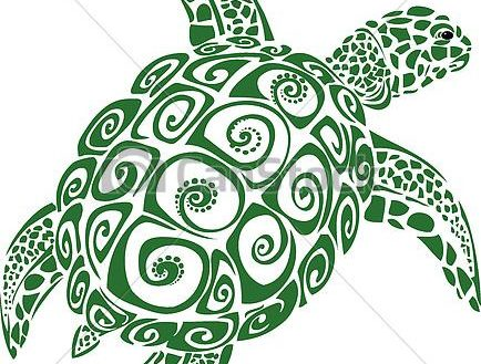 434x329 Sea Turtle Vector Cartoon Royalty Free Image Vectorstock Free