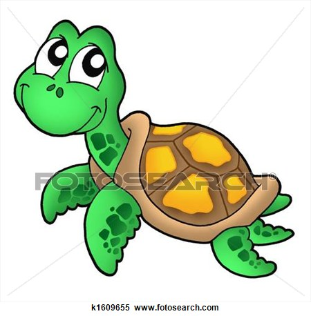 450x458 Cartoon Sea Turtle Clipart