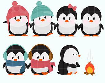 340x270 Penguin Clipart Etsy
