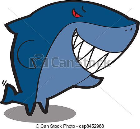 450x415 Cool Cartoon Shark. Cute Fish Cartoon, Line Art, Coloring Vector