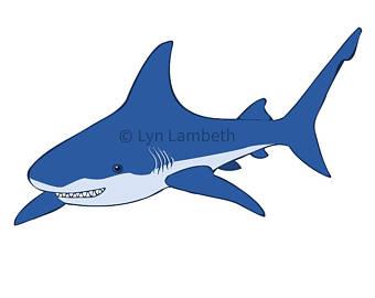 340x270 Cute Shark Clipart Etsy