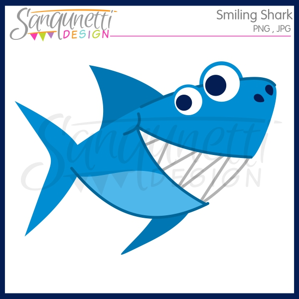 600x600 Free Smiling Shark Clipart