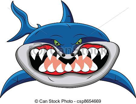 450x346 Illustration Of Funny Shark Cartoon Eps Vectors