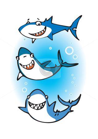 317x450 Shark Clip Art Set Shark Clipart Graphics Instant Download